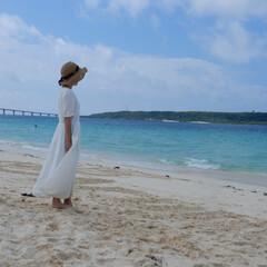 outfit/mama/宮古島/リゾート/fashion/family/... 宮古島で有名な前浜beach❤️長い砂浜…