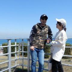 わたしのお気に入り/私のお気に入り/夫婦/旅/旅行/春 いつも淡路島にむかうこの場所で 撮る夫婦…
