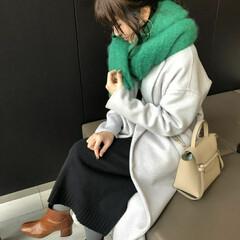 コーデ/コーディネート/冬/ファッション 今日のお出かけstyling💛 グリーン…