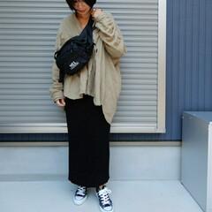 コーディネート/fashion/ファッション/フォロー大歓迎 スニーカーで ラフコーディネート💛❤️ …