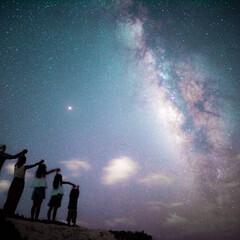 旅/景色/宮古島/フォト/沖縄/星空/... 宮古島の星空photo❤️💛 真ん中に見…