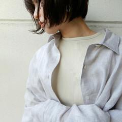 リネン/春夏/コーディネート/code/fashion/ファッション さらっといまから羽織れる リネンシャツは…