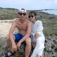 夫婦/リゾート/宮古島/海/BEACH 宮古島での夫婦shot❤️❤️二人ともサ…