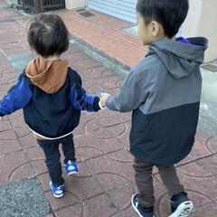 KIDS/おでかけ/ファッション/フォロー大歓迎 いとこくんと兄弟みたいに仲良し❤️❤️ …