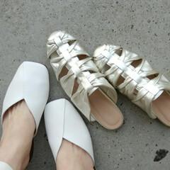 わたしのお気に入り/ファッション/Shoes/フラットシューズ/春/code/... まだサンダルには 早いけど‥‥そんないま…