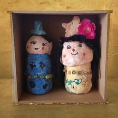 ひなまつり/お雛様 約17年前 長女がヤクルト容器で作ったお…