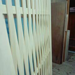建具/よしづ/蘆戸 夏用の扉、編み込み戸は蘆戸よりもお洒落です
