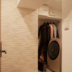 洗面室/エコカラット/湿気/調湿/タイル 「ウェットスーツを干す場所がほしい」とい…