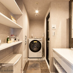リフォーム/リノベーション/住まい/建築/洗面室/洗面所/... ラグジュアリーホテルのパウダールームのよ…