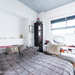 ベッドルーム/住まい/洋室/寝室 ベッドルームの壁や天井はクロスではなく塗…(1枚目)