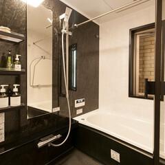リフォーム/リノベーション/住まい/建築/バスルーム/お風呂/... ブラックを基調としたホテルライクなバスル…