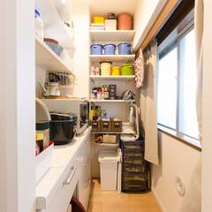 キッチン/パントリー/収納/食品庫/棚/納戸/... キッチンの後ろにパントリーを新設しました…