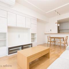 リビング/ナチュラルモダン/収納/壁面収納/リビング収納 白を基調とした明るく開放的な空間。 「リ…