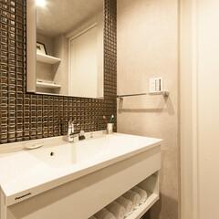 リフォーム/リノベーション/住まい/建築/洗面室/洗面所/... ホテルライクな洗面台は「フロートタイプ」…