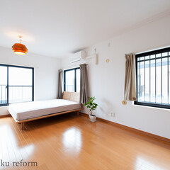 ベッドルーム/主寝室/寝室 元は洋室と和室がそれぞれあった2部屋を繋…