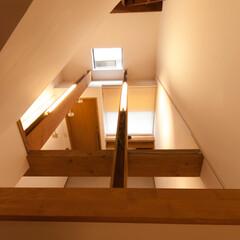 ロフト/ギャラリー/秘密基地/梁 1階と2階の間に設けたロフトからは1階の…