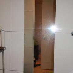 浴室鏡 施工前と比べかなり改善されております。