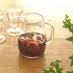 グリーン/ボルミオリロッコ/ピッチャー/ワイングラス/サングリア/ワイン/... 友達からドライフルーツを頂いたので、サン…