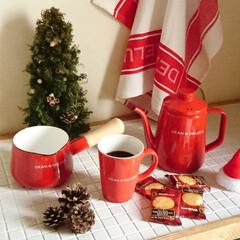 ケトル/マグカップ/ミルクパン/DEAN&DELUCA/サンタクロース/クリスマス/... コンテスト用に再投稿です。