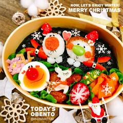 お弁当/お弁当作り/キャラ弁/デコ弁/クリスマス弁当/クリスマス/... 🎄クリスマス弁当🎄