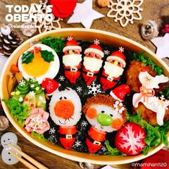 クリスマス弁当/デコ弁/お弁当作り/キャラ弁/お弁当/クリスマス/... クリスマス弁当🎄