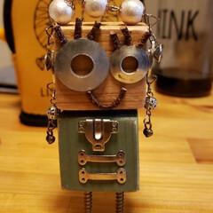 いろいろな部品/端材/ロボットちゃん/わたしのお気に入り 女の子バージョン作ってみました(ㆁᴗㆁ✿)