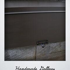 DIY/門柱/ポスト/ペイント/リメイク/フラップ扉/... 門柱に埋め込まれているステンレス製ポスト…