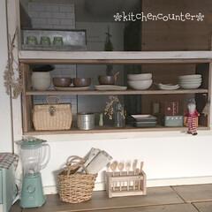 木の温もり/古材/足場板棚diy/器のある暮らし/漆喰DIY/窓枠DIY/... キッチンカウンターをdiyしました。 見…(2枚目)