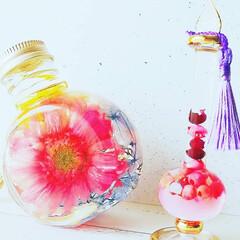 ピンク/癒しの時間/ハーバリウム/エジプシャングラス/インテリア/おしゃれ/... ☆「エジプシャングラス」を使ってハーバリ…(1枚目)