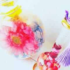 ピンク/癒しの時間/ハーバリウム/エジプシャングラス/インテリア/おしゃれ/... ☆「エジプシャングラス」を使ってハーバリ…(2枚目)