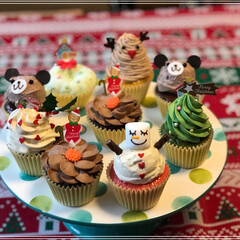 カップケーキ/デコレーション/可愛い/クリスマス それぞれ味もデコレーションもこだわったカ…