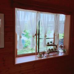 出窓インテリア/出窓/リビング/フォロー大歓迎 癒しの出窓(,,><,,)♡❤️