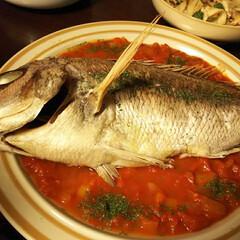 美味しい/オーブン焼き/まるごと一匹/鯛尾頭付き/こんがりグルメ