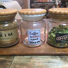 簡単 使い辛いコースターをコーヒーの瓶の蓋に接…