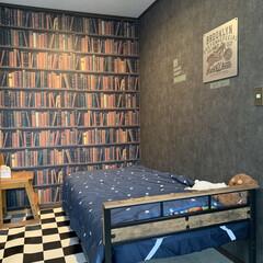 セリア/壁紙屋本舗/子供部屋/雑貨/DIY/ニトリ/... 我が家の寝室には、3畳ほどの凹んだ部分が…