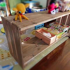 すのこDIY/スノコ/すのこリメイク/キッズスペース/DIY/住まい 物置を覗いたら、子供達が小さい頃に、工務…(1枚目)