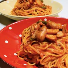 手抜きレシピ/パスタ/ナポリタン/今日の夕食 今週は長男くんが期末テスト期間でお弁当が…