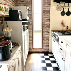 お気に入りの空間/大掃除/壁紙屋本舗/キッチン/DIY/kitchen 大掃除をする時間が足りない〜💦 とりあえ…(3枚目)