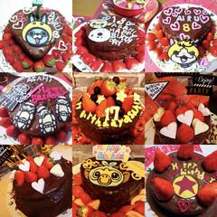 デコキャラ/手作りケーキ/バースデーケーキ/birthday cake ここ数年の、息子たちのbirthday …