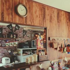 キッチン/壁紙/壁紙屋本舗/ダイニング/DIY 実は途中になっていたダイニングの壁紙(^…