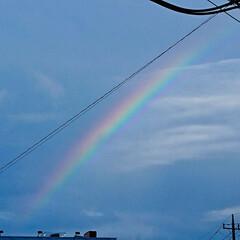 そら/虹の写真/にじ/雨上がり/雨上がりの空/雨季ウキフォト投稿キャンペーン/... 久々に見ました( ´∀`) 良いことあり…
