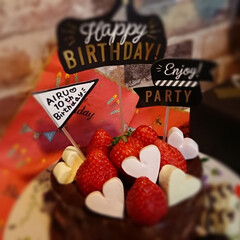 誕生日/誕生日ケーキ/バースデーケーキ/フード/スイーツ/インテリア 次男の10th Birthday❤️ 今…
