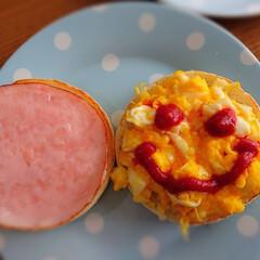イングリッシュマフィン/朝食/朝ごはん/LIMIAファンクラブ/LIMIAごはんクラブ/おうちごはんクラブ 今日の朝ごはん。。。 イングリッシュマフ…