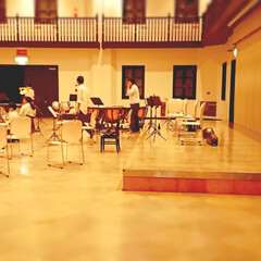 吹奏楽コンクール本番前日/下野市/グリムの館/部活動/吹奏楽部/高校生部活 長男くん、明日のコンクール本番に向けて、…