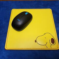手作り/レザークラフト/マウスパッド/ハンドメイド 革のハギレでマウスパッドを作ってみました…