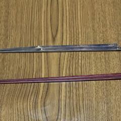 キッチン雑貨 上の箸は十数年前に手に入った煤竹で自分で…