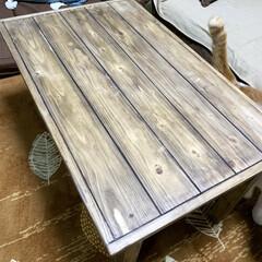 サイドテーブルDIY/ローテーブルDIY/ウッドショック/廃材利用/SPF材/DIY ローテーブル作りました⚒ サイドテーブル…(1枚目)