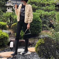 レインブーツ/無印良品/UNIQLO/ファッション 雨の日コーデ、その2♪ *** 🧥ハート…