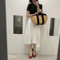 バレエシューズ/ムーニュ/スカートコーデ/UNIQLO/ユニクロ ユニクロの値下げスカート、790円❗️ …