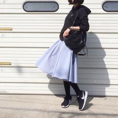 リュック/ナイキ/UNIQLO/ユニクロ/パーカー ブラックパーカーコーデ♪ お洋服は全てユ…